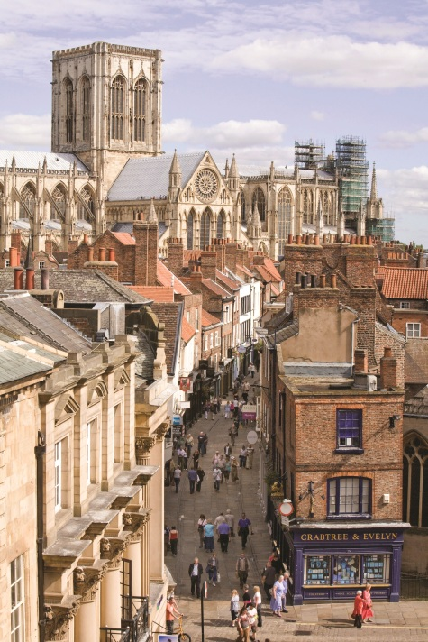35_View of York Minster looking down Stonegate_ taken from the rooftop of the Mansion House