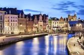 Korenlei embankment in Ghent, Belgium