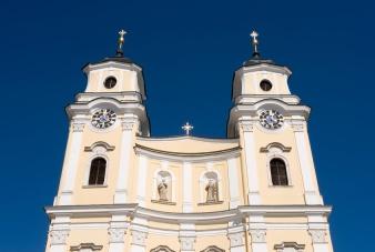 Exterior collegiate church in Mondsee