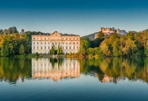 Famous Schloss Leopoldskron in Salzburg, Austria