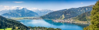 Panoramic view of Zell am See, Salzburger Land, Austria